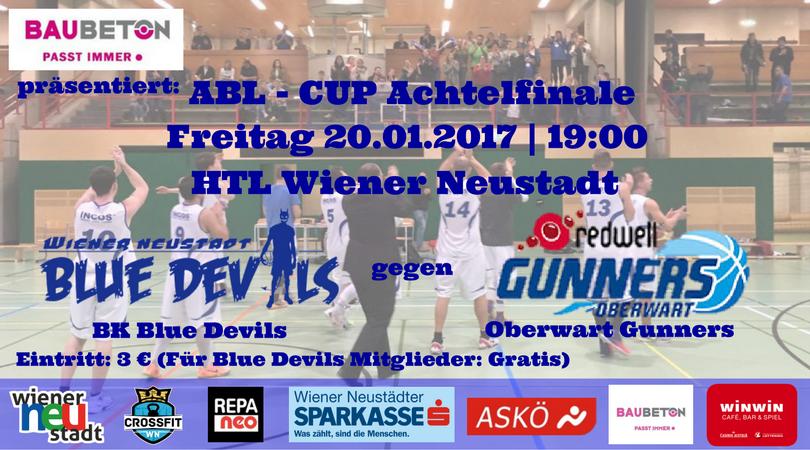 ABL Cup 1/8-Finale: BK Blue Devils vs. Oberwart Gunners
