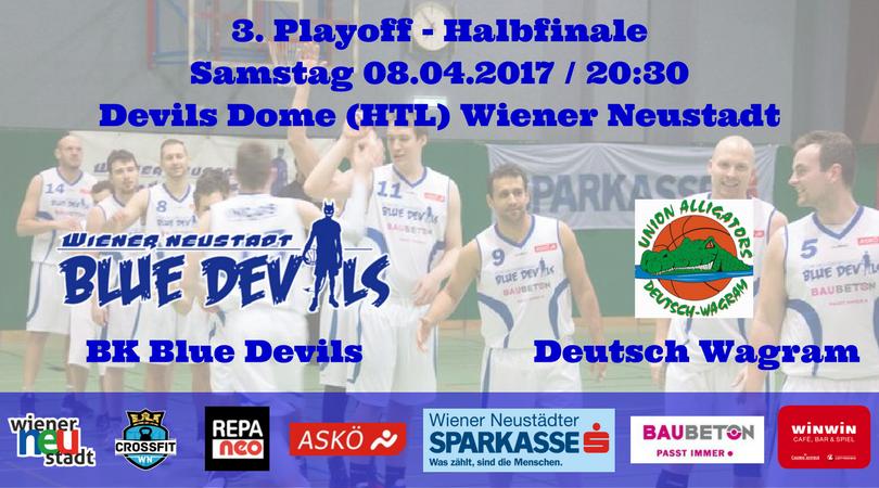3. Playoff Halbfinale: Blue Devils vs. Deutsch Wagram