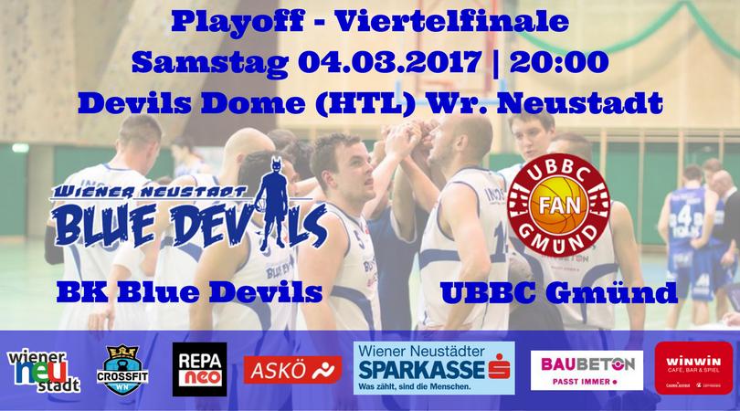 Landesliga-Playoff-Viertelfinale: 04.03.2017 | 20:00 | HTL Wr. Neustadt